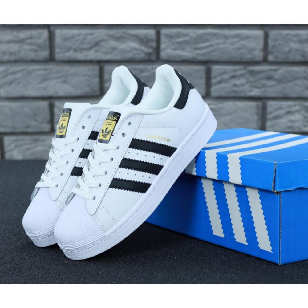 Летние кроссовки мужские - Мужские кроссовки Adidas Superstar белого цвета