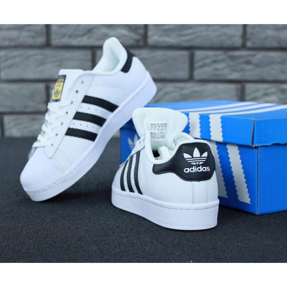 Летние кроссовки мужские - Мужские кроссовки Adidas Superstar белого цвета 3
