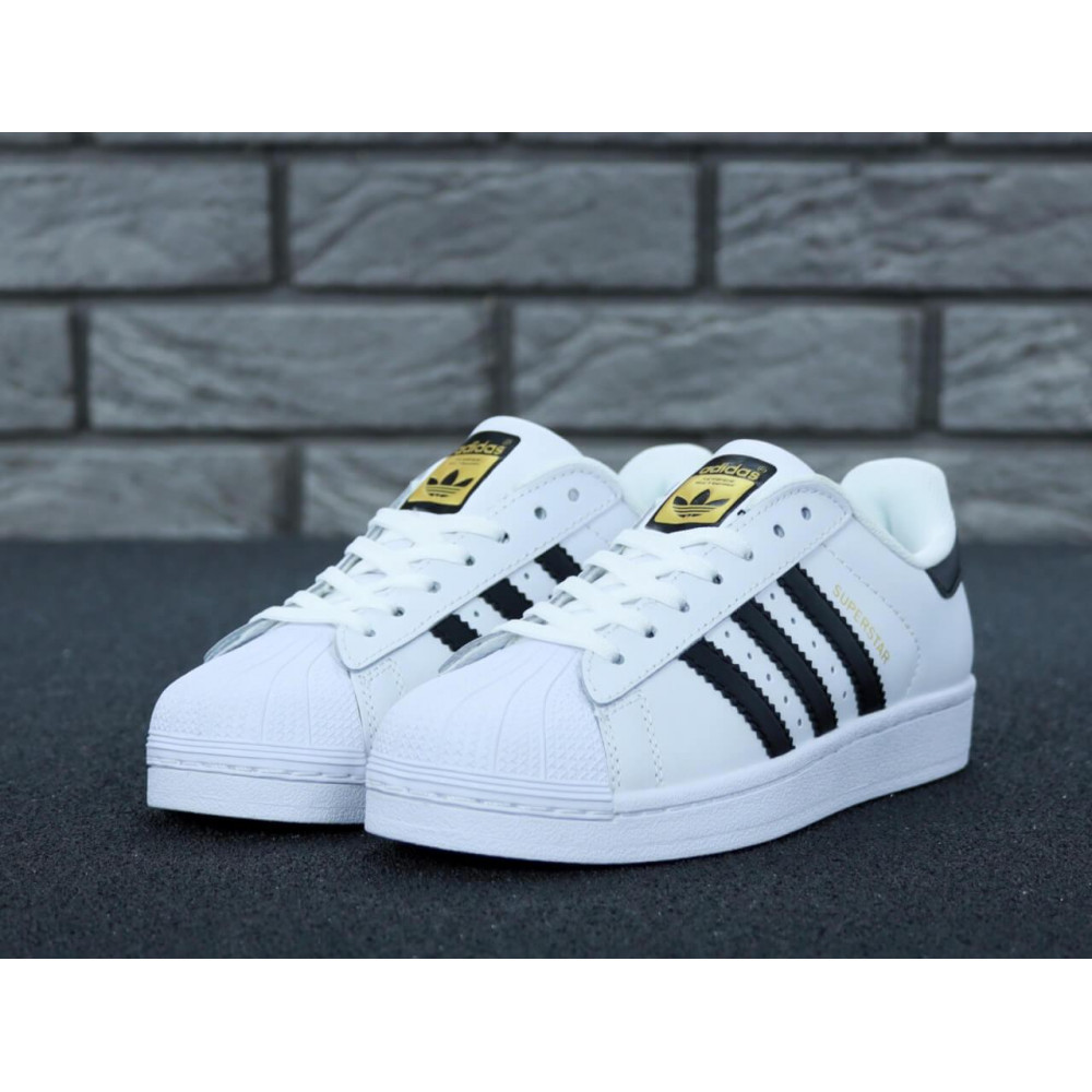 Летние кроссовки мужские - Мужские кроссовки Adidas Superstar белого цвета 4