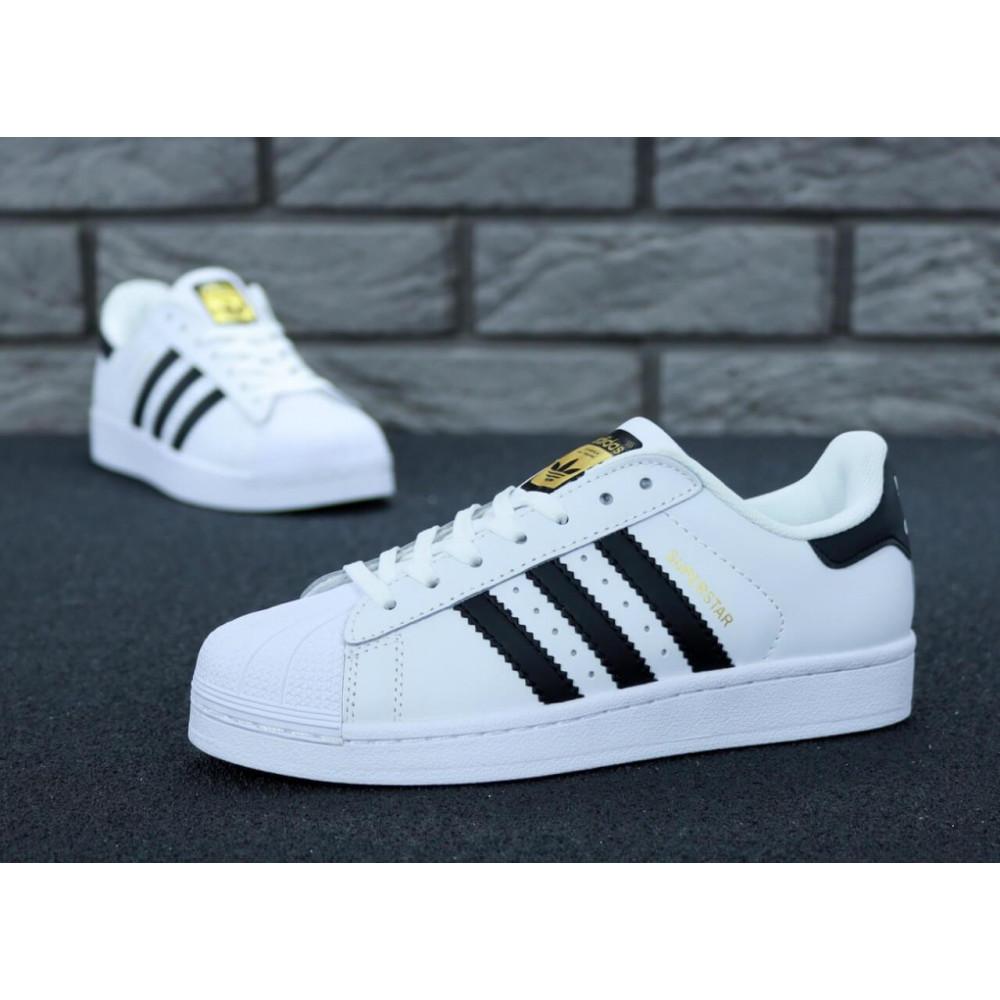 Летние кроссовки мужские - Мужские кроссовки Adidas Superstar белого цвета 2