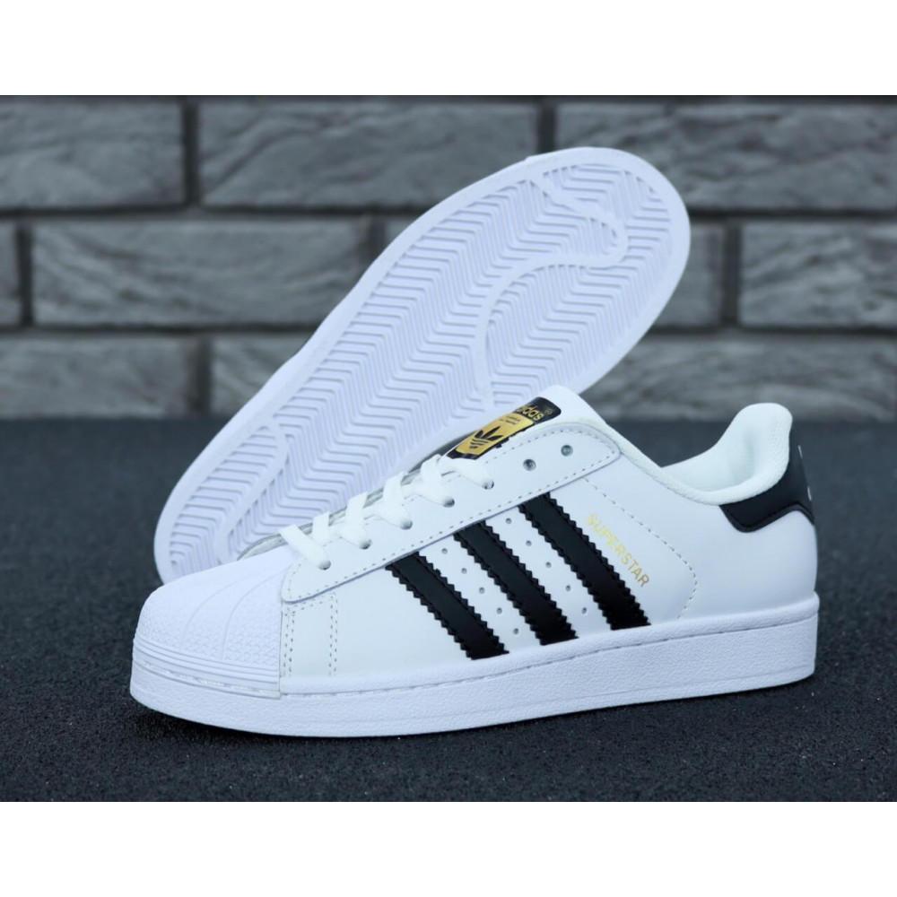 Летние кроссовки мужские - Мужские кроссовки Adidas Superstar белого цвета 5