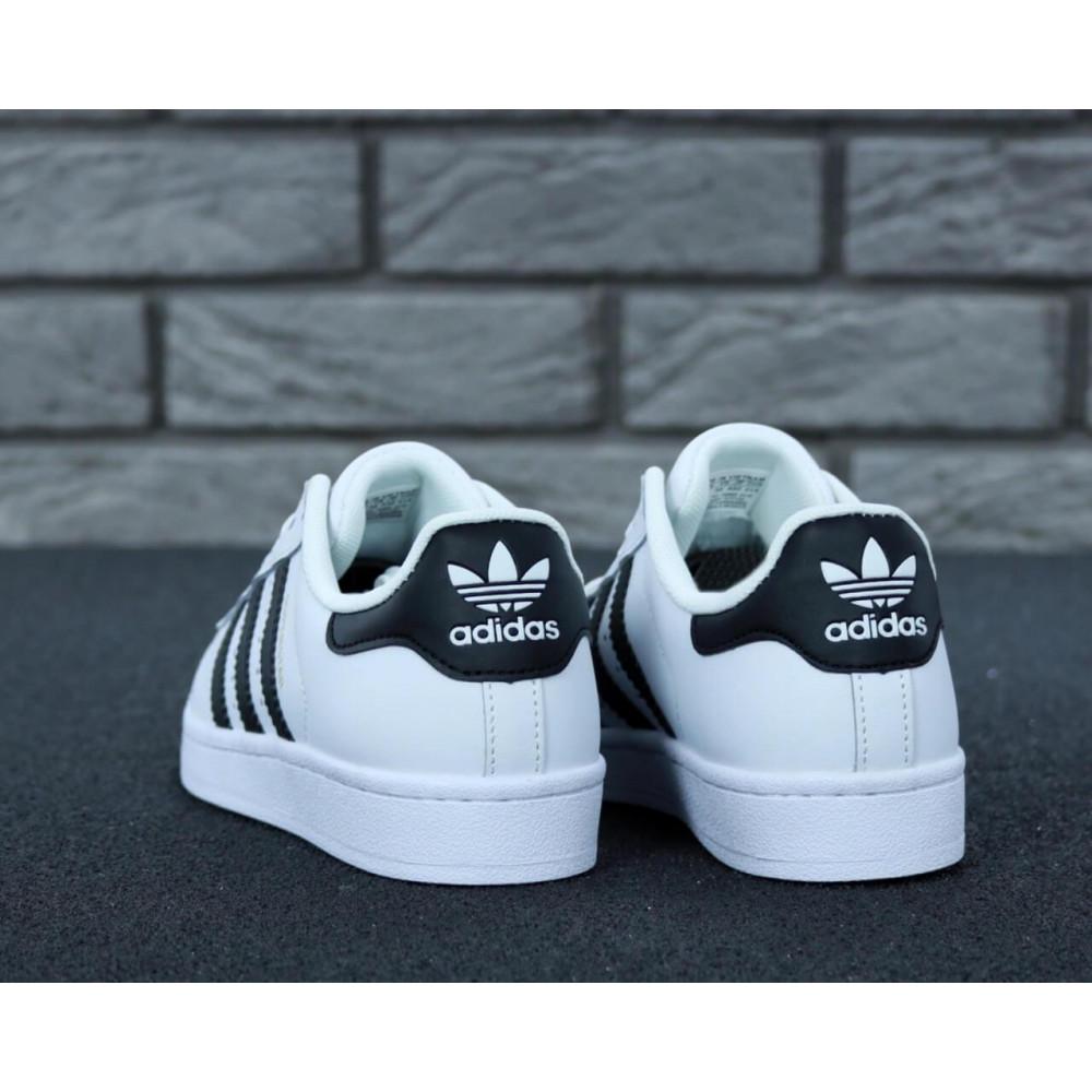 Летние кроссовки мужские - Мужские кроссовки Adidas Superstar белого цвета 8