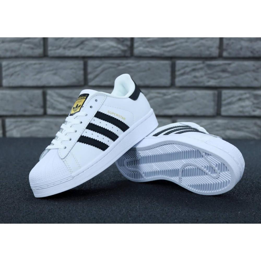 Летние кроссовки мужские - Мужские кроссовки Adidas Superstar белого цвета 1