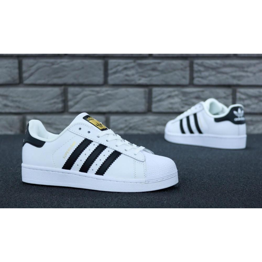 Летние кроссовки мужские - Мужские кроссовки Adidas Superstar белого цвета 7