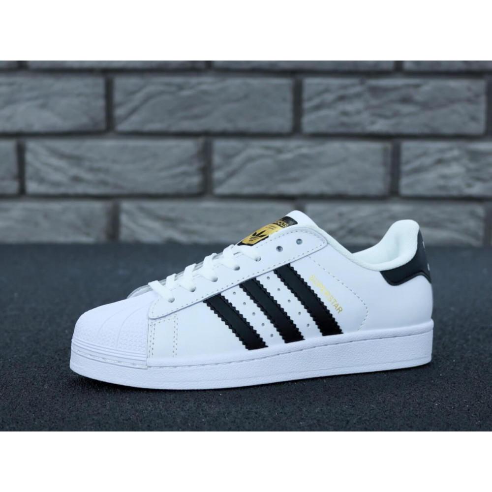 Летние кроссовки мужские - Мужские кроссовки Adidas Superstar белого цвета 6
