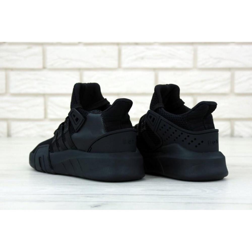 Беговые кроссовки мужские  - Мужские кроссовки Adidas EQT Bask ADV All Black 4