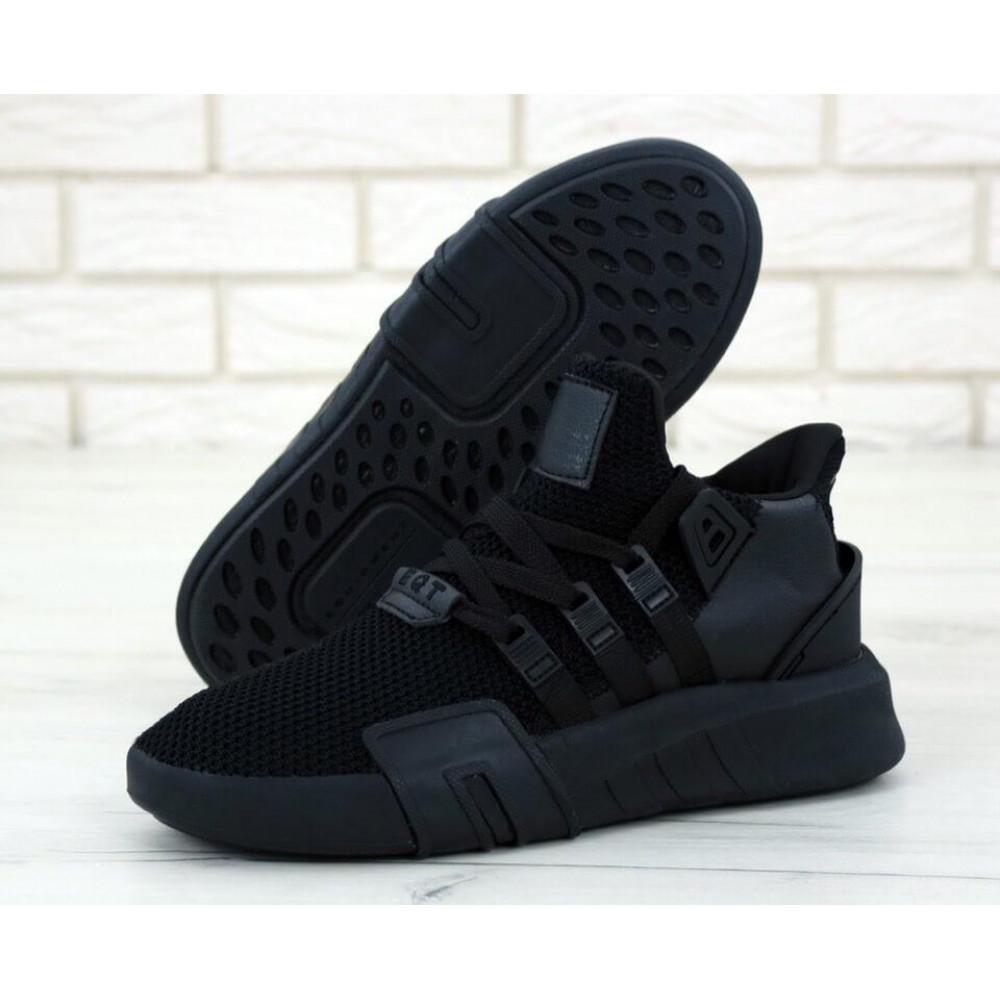 Беговые кроссовки мужские  - Мужские кроссовки Adidas EQT Bask ADV All Black 1