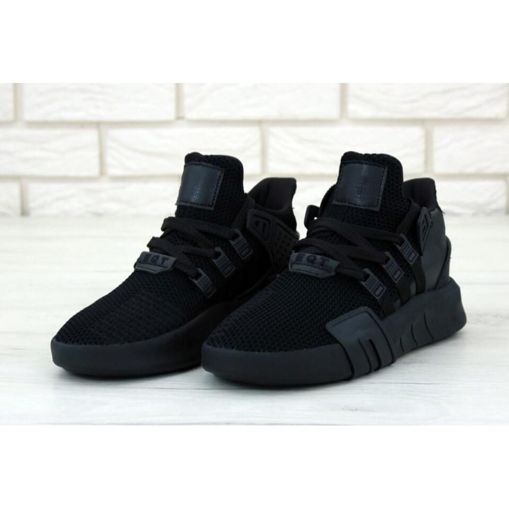Беговые кроссовки мужские  - Мужские кроссовки Adidas EQT Bask ADV All Black 2