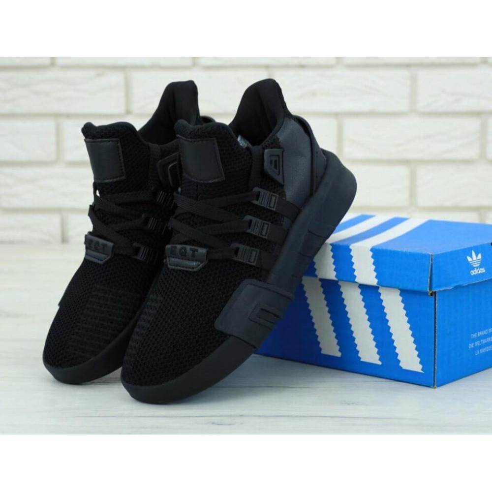 Беговые кроссовки мужские  - Мужские кроссовки Adidas EQT Bask ADV All Black