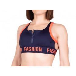 Топ для спорта Fashion BR 0039 Синий с Оранжевым