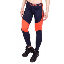 Лосины для спорта Fashion P 0039 Синий с оранжевым