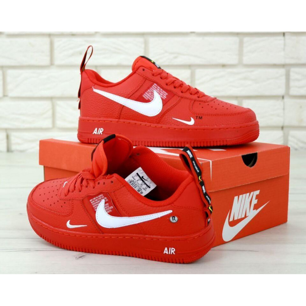 Женские кроссовки классические  - Женские красные кроссовки Nike Air Force 1 Low Red 3