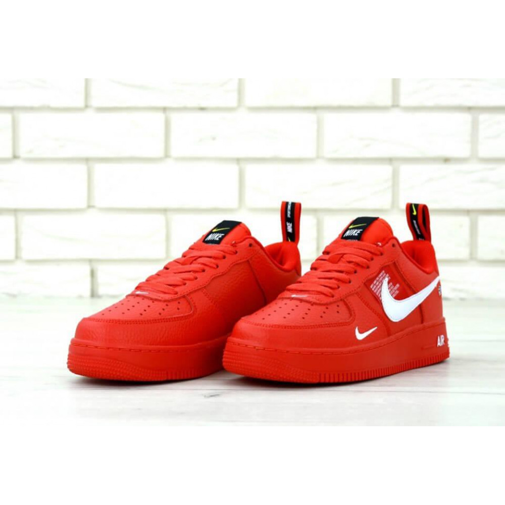 Женские кроссовки классические  - Женские красные кроссовки Nike Air Force 1 Low Red 2