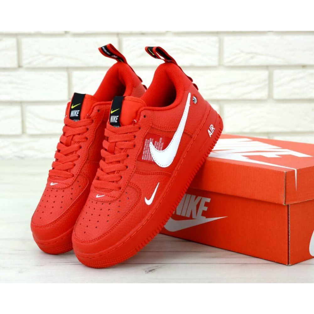 Женские кроссовки классические  - Женские красные кроссовки Nike Air Force 1 Low Red