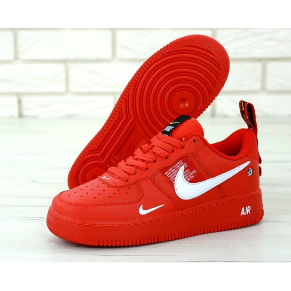 Женские кроссовки классические  - Женские красные кроссовки Nike Air Force 1 Low Red 1