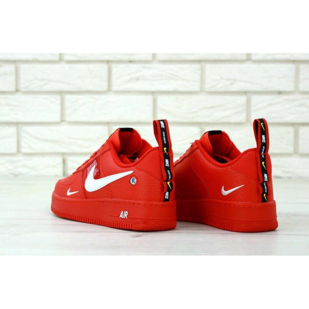 Женские кроссовки классические  - Женские красные кроссовки Nike Air Force 1 Low Red 4