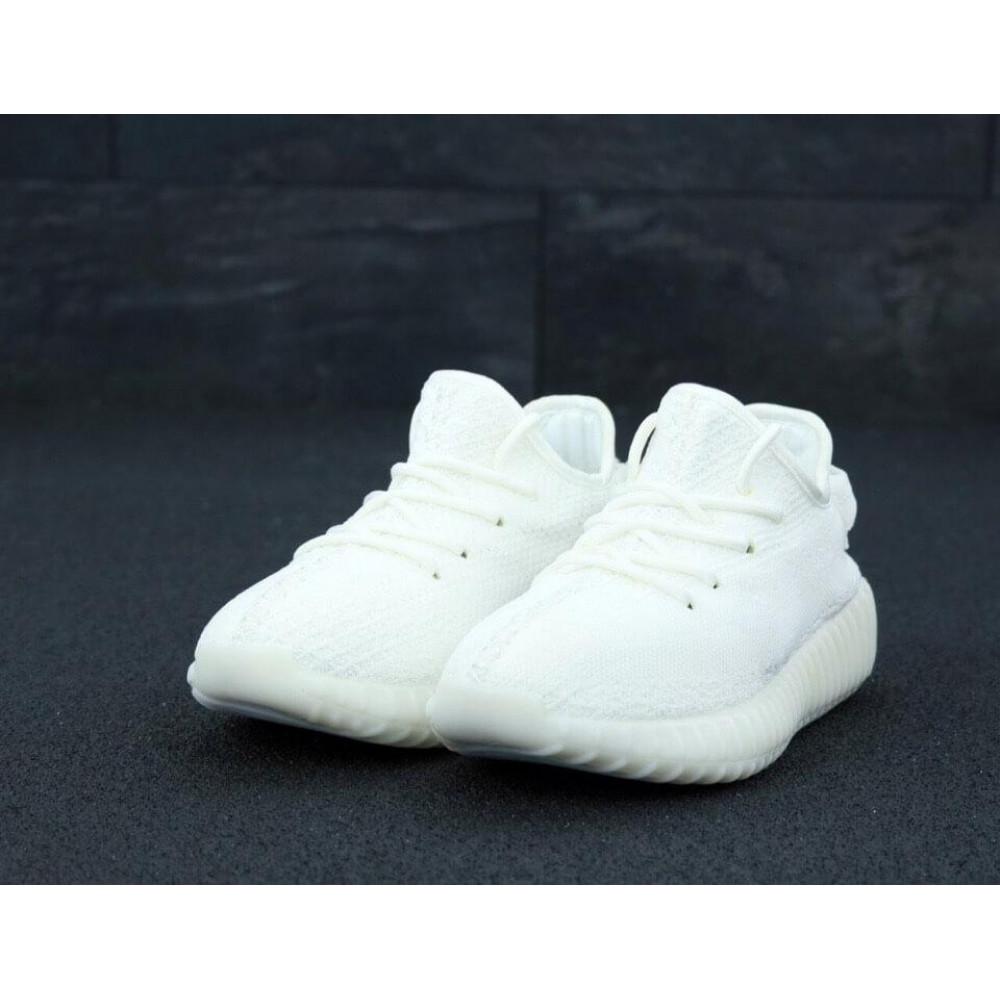 Летние кроссовки мужские - Мужские белые кроссовки Adidas Yeezy Boost 350 2