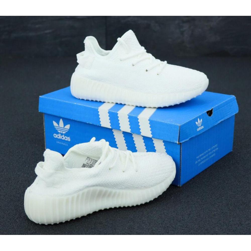 Летние кроссовки мужские - Мужские белые кроссовки Adidas Yeezy Boost 350 3