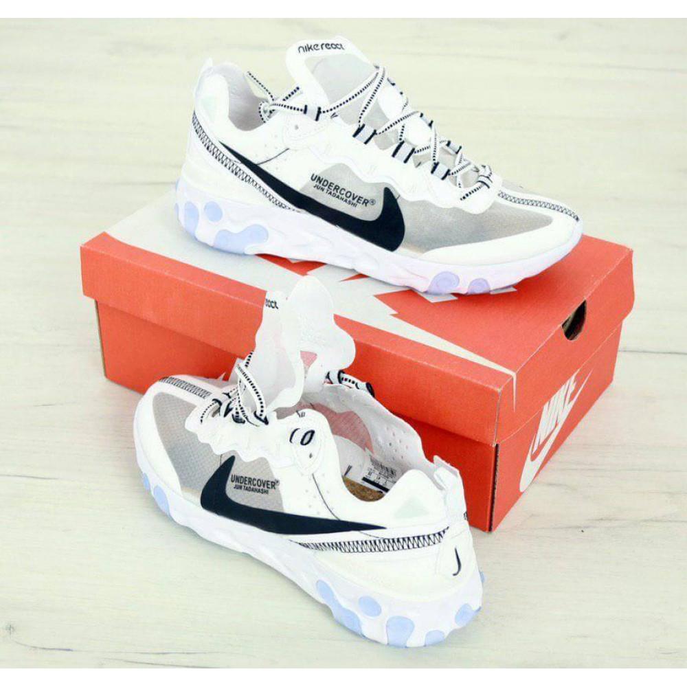 Демисезонные кроссовки мужские   - Белые кроссовки Найк Реакт 4