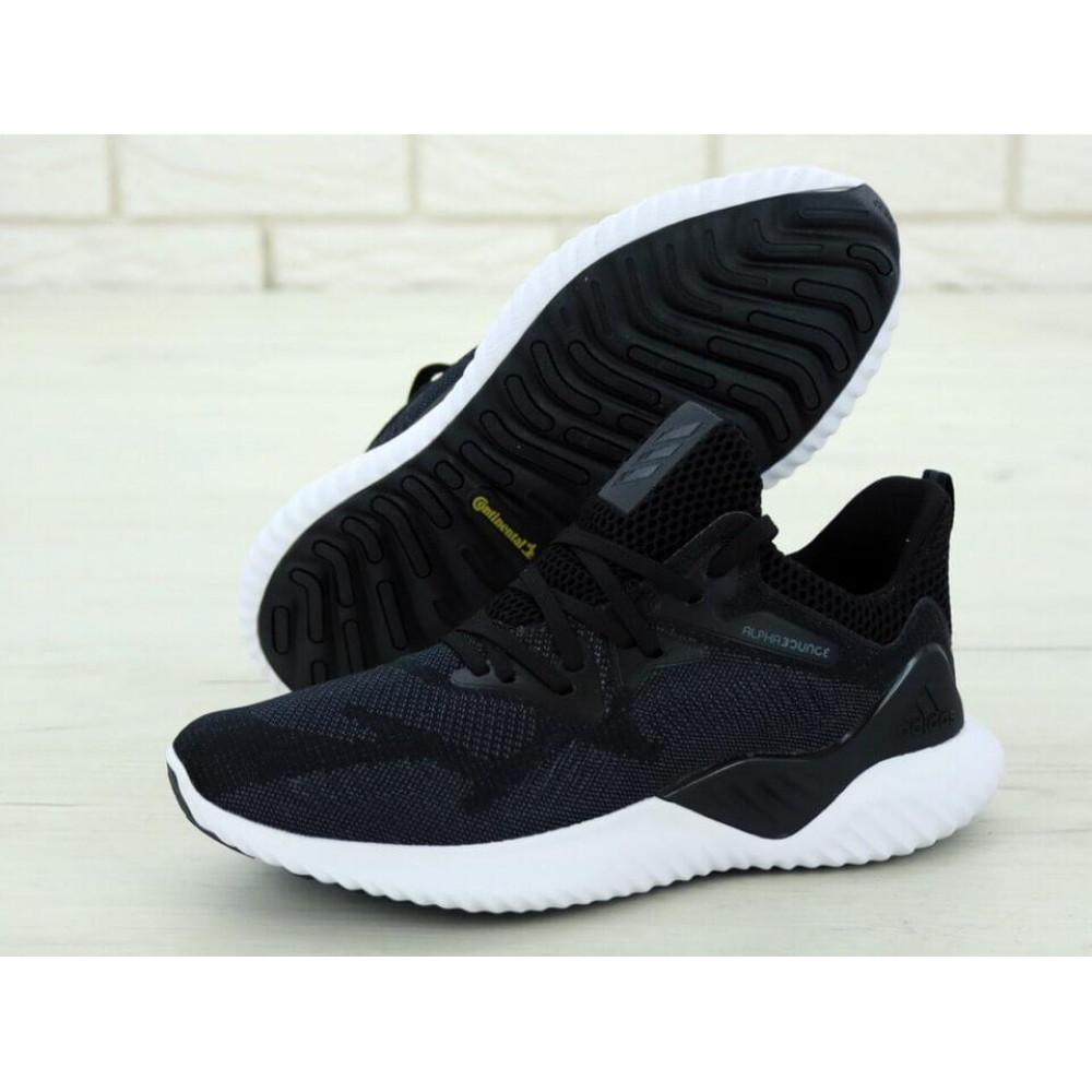 Классические кроссовки мужские - Кроссовки Adidas Alphabounce Beyond в черно-белом цвете 1