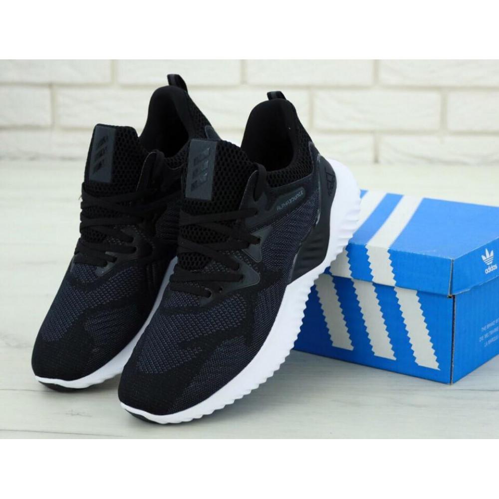 Классические кроссовки мужские - Кроссовки Adidas Alphabounce Beyond в черно-белом цвете