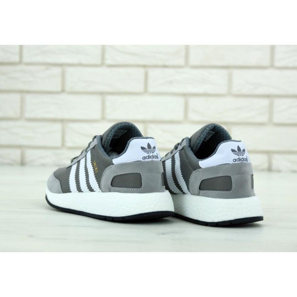Демисезонные кроссовки мужские   - Кроссовки Adidas Iniki Runner Vista Grey 4