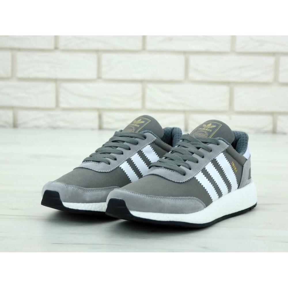 Демисезонные кроссовки мужские   - Кроссовки Adidas Iniki Runner Vista Grey 2