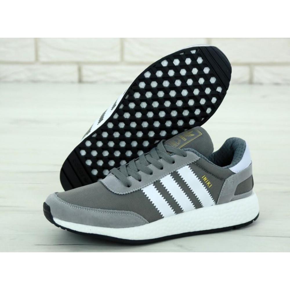 Демисезонные кроссовки мужские   - Кроссовки Adidas Iniki Runner Vista Grey 1