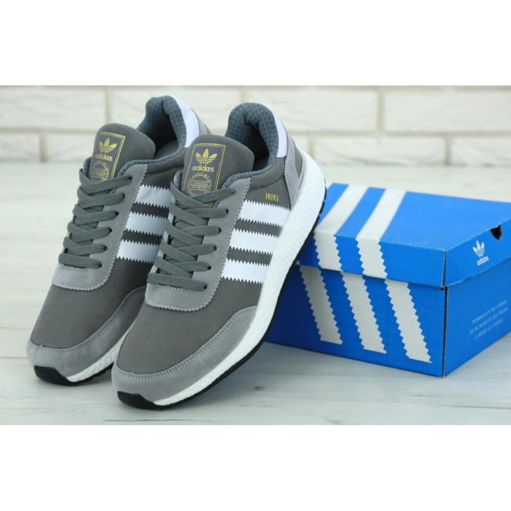 Демисезонные кроссовки мужские   - Кроссовки Adidas Iniki Runner Vista Grey