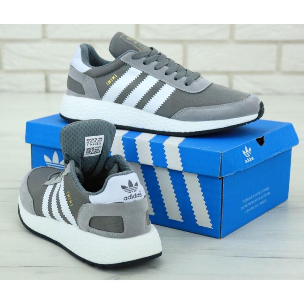 Демисезонные кроссовки мужские   - Кроссовки Adidas Iniki Runner Vista Grey 3