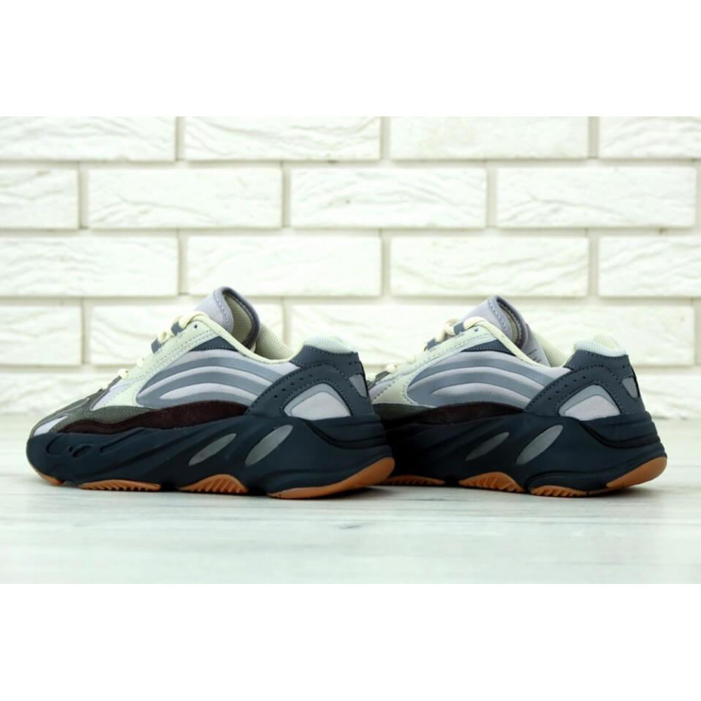 Демисезонные кроссовки мужские   - Мужские модные кроссовки Adidas Yeezy 700 Mauve серого цвета 3