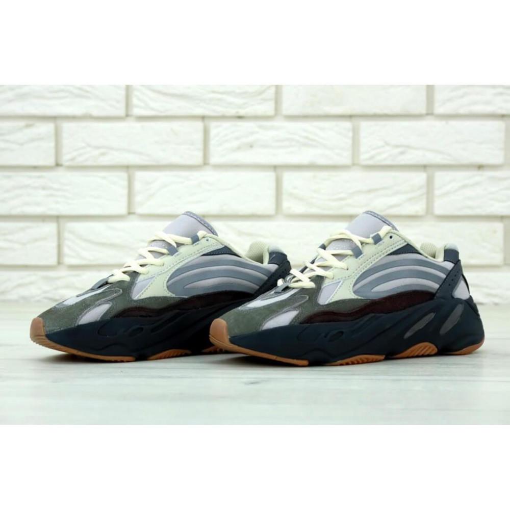 Демисезонные кроссовки мужские   - Мужские модные кроссовки Adidas Yeezy 700 Mauve серого цвета 2