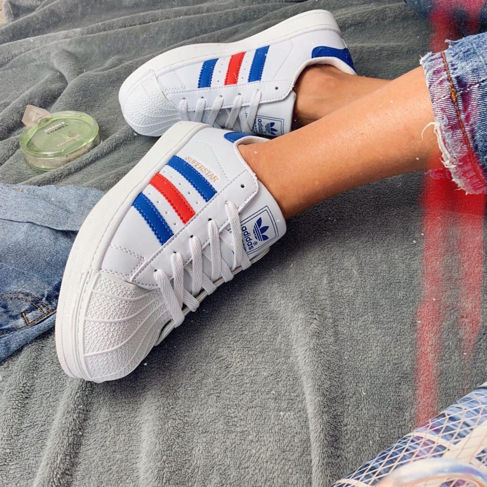 Женские кроссовки классические  - Кроссовки женские Adidas Superstar 00020 ⏩ [ 36.39 ]