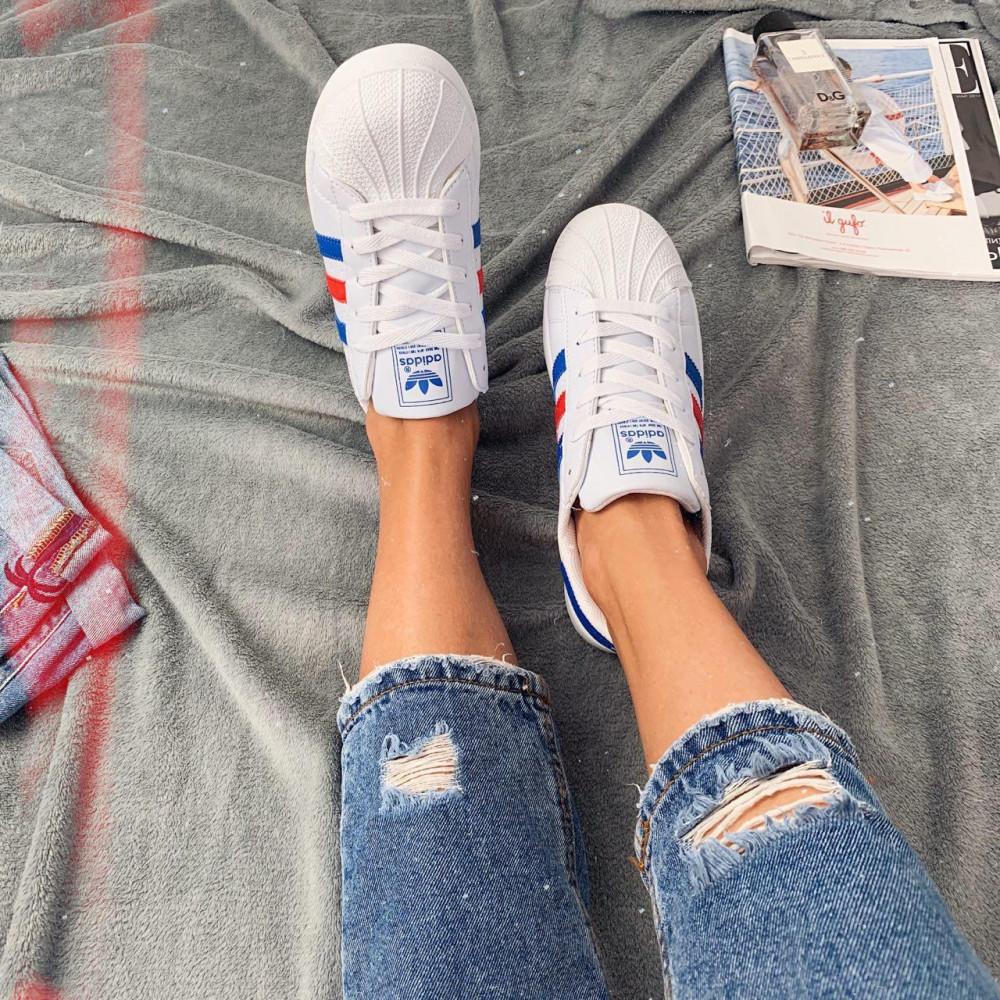 Женские кроссовки классические  - Кроссовки женские Adidas Superstar 00020 ⏩ [ 36.39 ] 4
