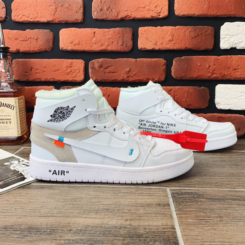 Демисезонные кроссовки мужские   - Кроссовки мужские Nike Air Jordan x OFF-White  00039 ⏩ [ 40.41.42.43 ] 1