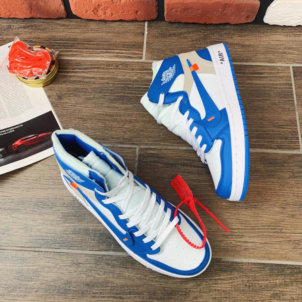 Демисезонные кроссовки мужские   - Кроссовки мужские Nike Air Jordan x OFF-White 00037 ⏩ [ 40.41.42.43 ] 1