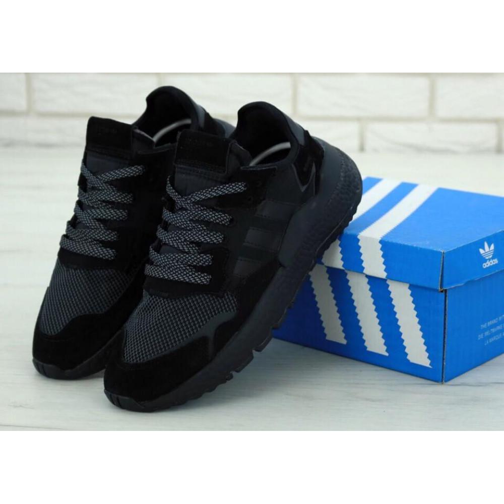 Демисезонные кроссовки мужские   - Кроссовки Adidas Nite Jogger Triple Black