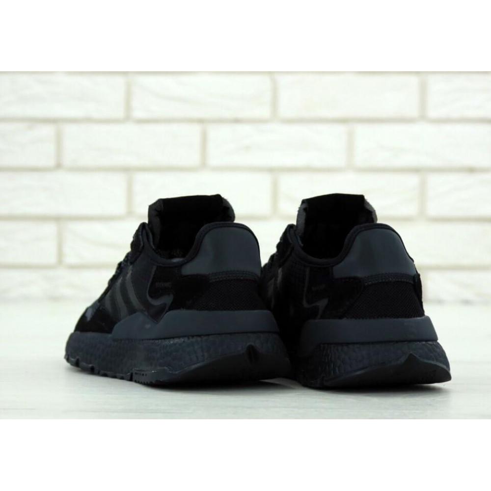 Демисезонные кроссовки мужские   - Кроссовки Adidas Nite Jogger Triple Black 4