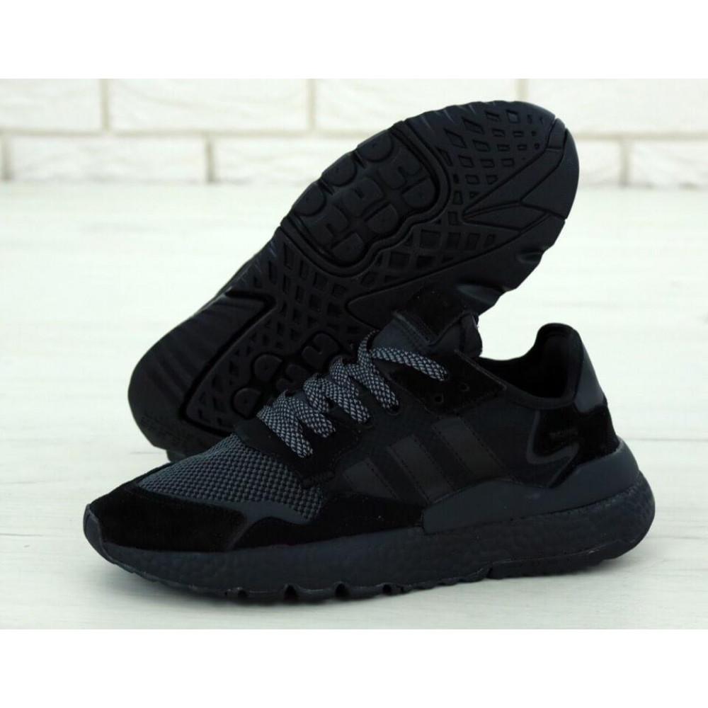 Демисезонные кроссовки мужские   - Кроссовки Adidas Nite Jogger Triple Black 1