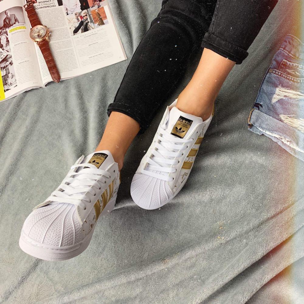 Женские кроссовки классические  - Кроссовки женские Adidas Superstar 3059 ⏩ [ 37 ] 3