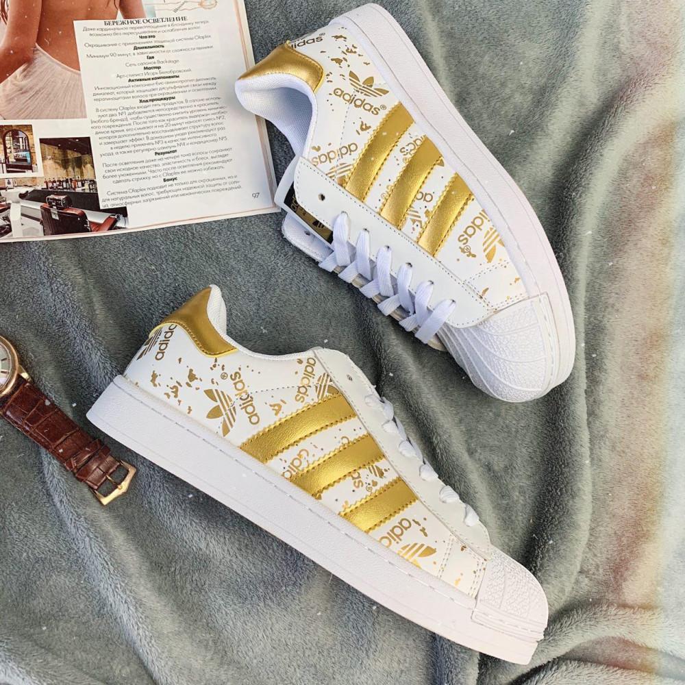 Женские кроссовки классические  - Кроссовки женские Adidas Superstar 3059 ⏩ [ 37 ]