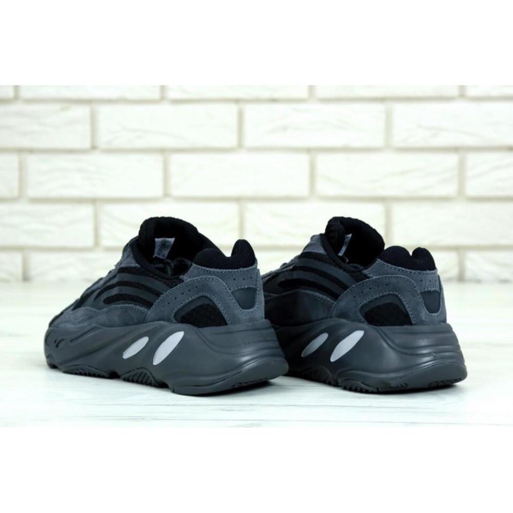 Демисезонные кроссовки мужские   - Мужские кроссовки Adidas Yeezy 700 Mauve темно-серого цвета 4