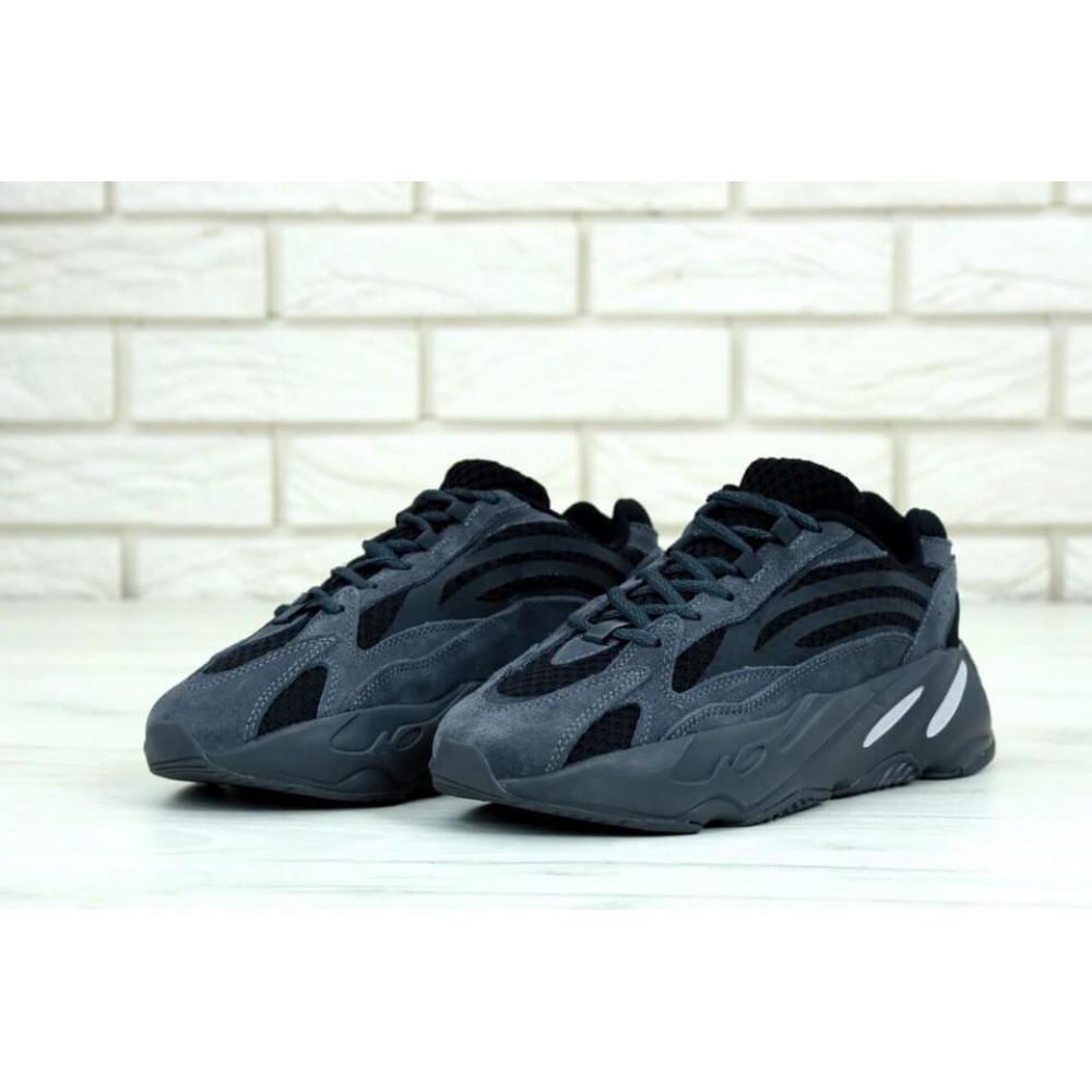 Демисезонные кроссовки мужские   - Мужские кроссовки Adidas Yeezy 700 Mauve темно-серого цвета 2
