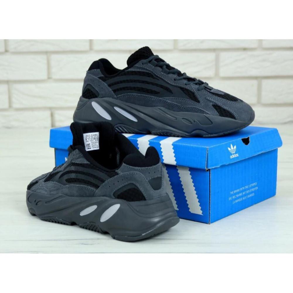 Демисезонные кроссовки мужские   - Мужские кроссовки Adidas Yeezy 700 Mauve темно-серого цвета 3