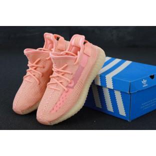Женские розовые кроссовки Adidas Yeezy Boost 350