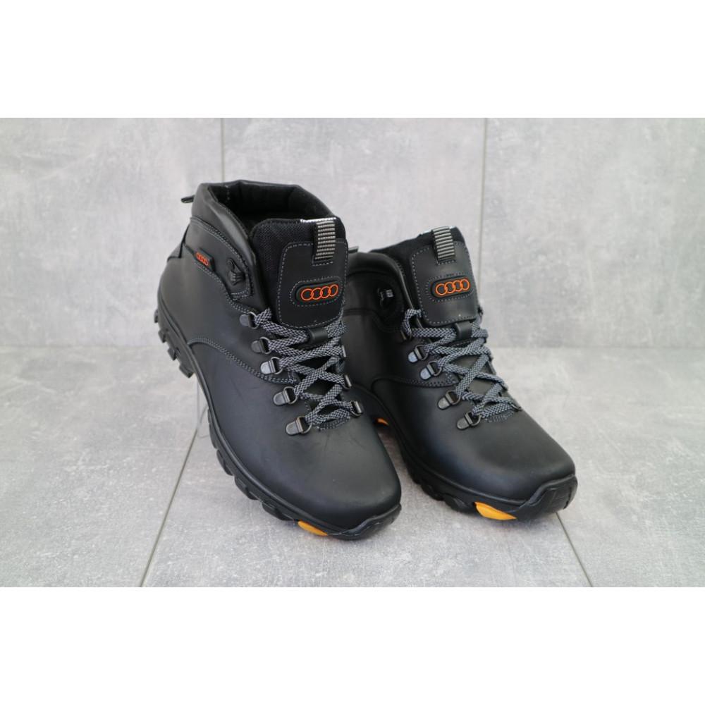 Мужские ботинки зимние - Мужские ботинки кожаные зимние черные Storm RZ- W