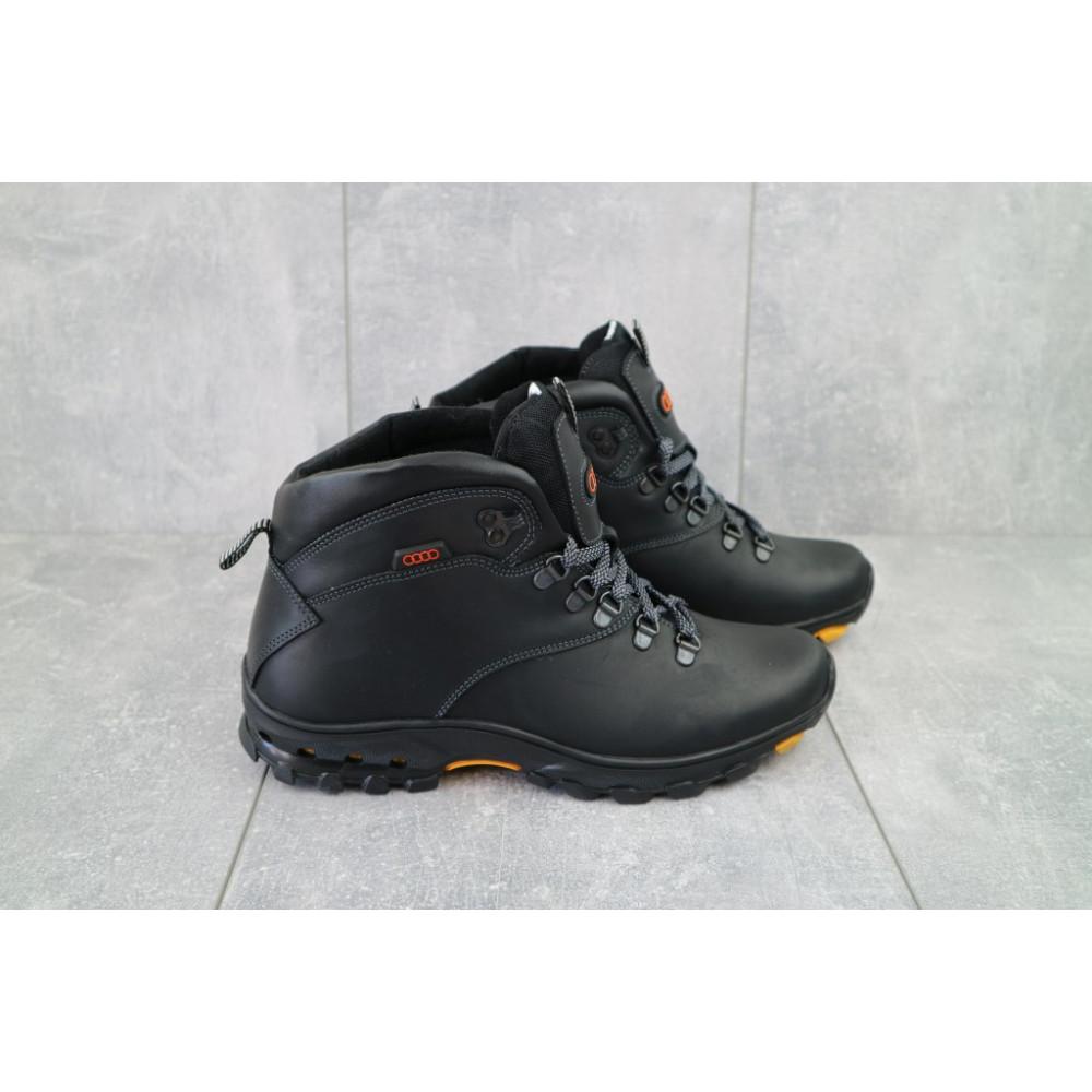 Мужские ботинки зимние - Мужские ботинки кожаные зимние черные Storm RZ- W 6