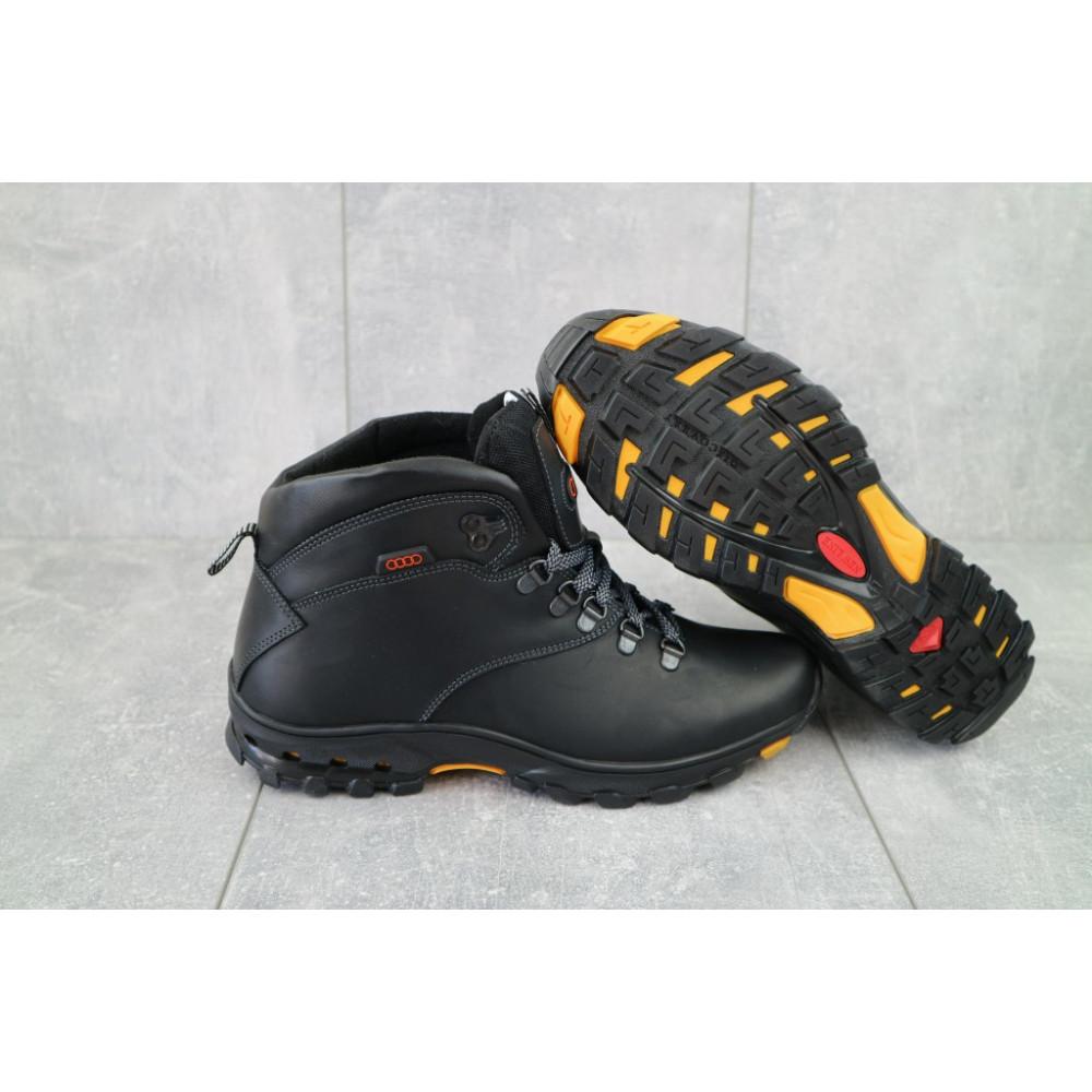 Мужские ботинки зимние - Мужские ботинки кожаные зимние черные Storm RZ- W 5