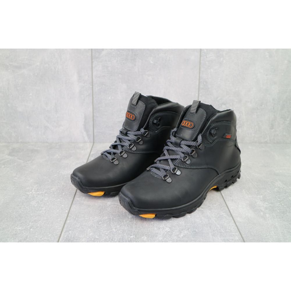 Мужские ботинки зимние - Мужские ботинки кожаные зимние черные Storm RZ- W 4