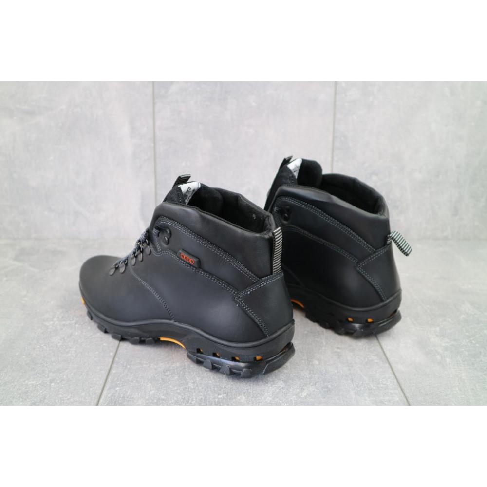 Мужские ботинки зимние - Мужские ботинки кожаные зимние черные Storm RZ- W 3